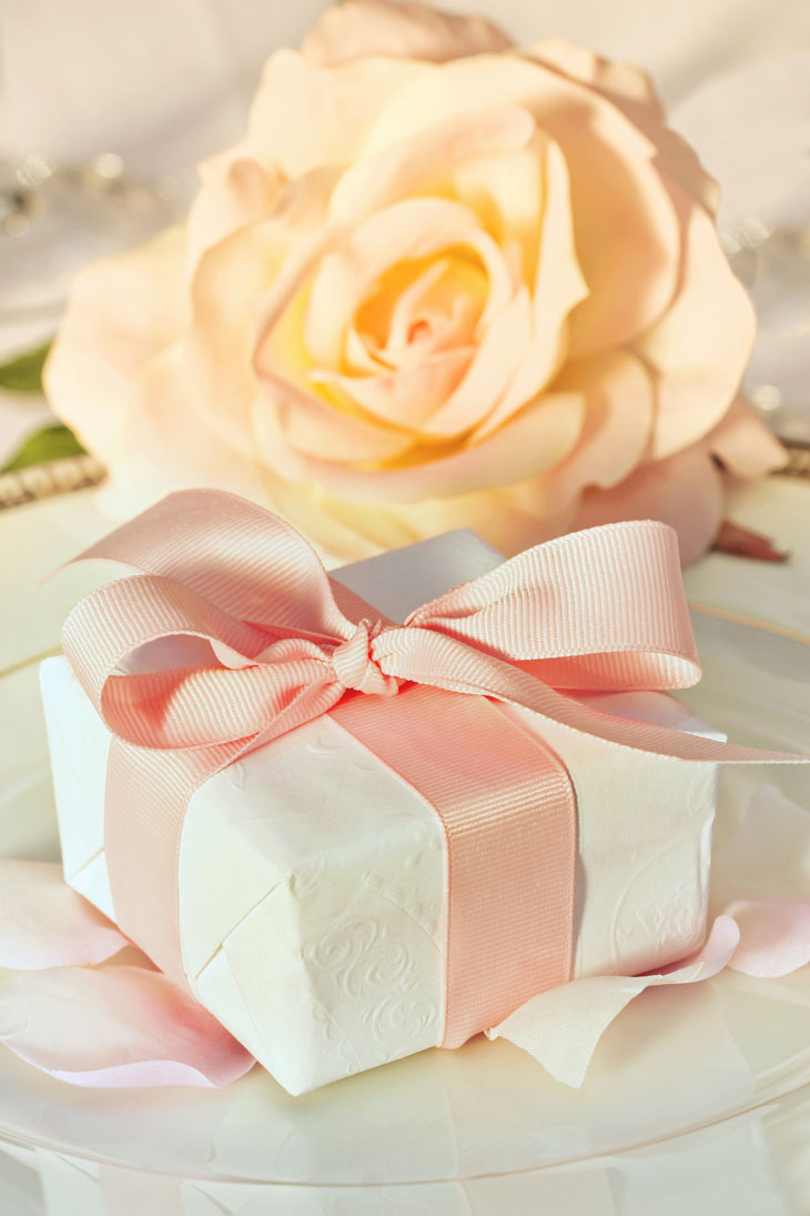 Wedding Favor Box with Ribbon