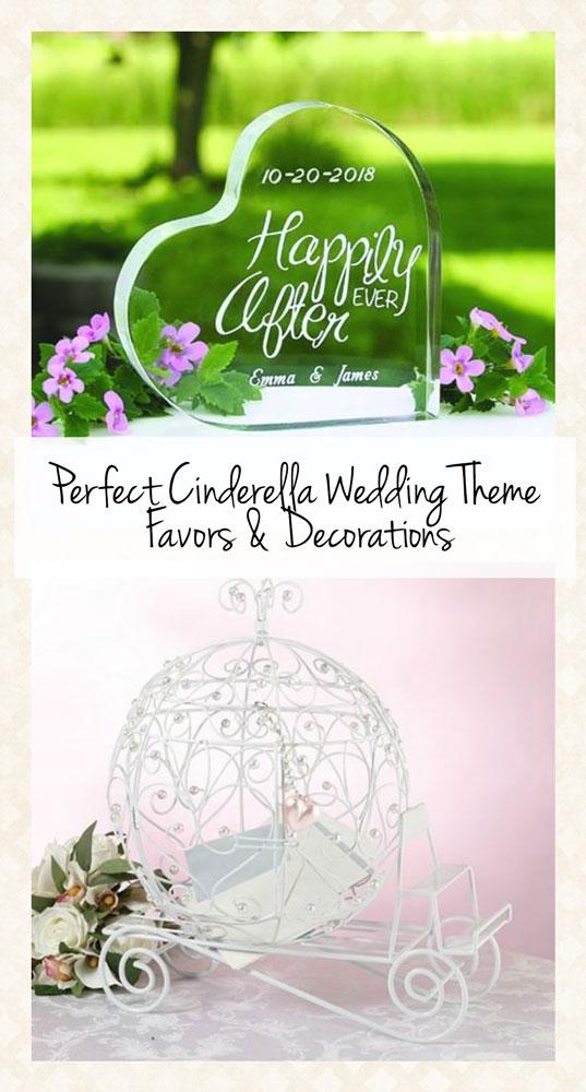 Cinderella Wedding Theme Favors