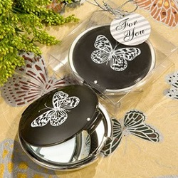 Butterfly Compact Mirror Wedding Favors