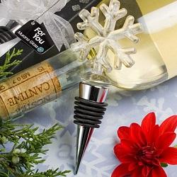 Glass Snowflake Wine Bottle Stopper