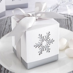 Laser-Cut Snowflake Favor Boxes