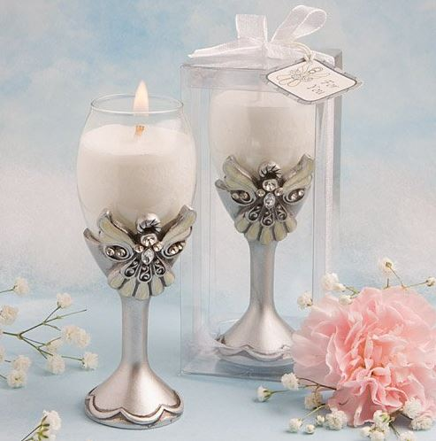 Angel Glass Candle Holder