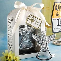 Angel design bottle opener favor