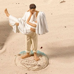 Beach Couple Cake Topper