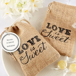 Burlap Drawstring Favor Bag