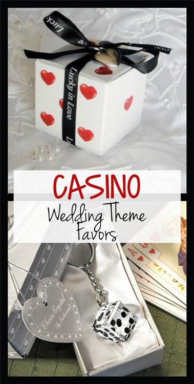 Casino Wedding Theme Favors