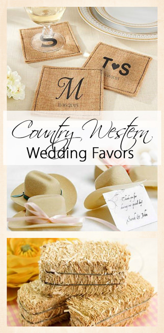 Country Western Wedding Favors