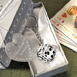 Crystal Dice Keychain