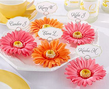 Gerbera Daisy Place Card Holders