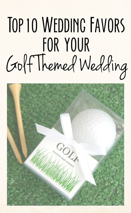 Golf Wedding Theme Favors