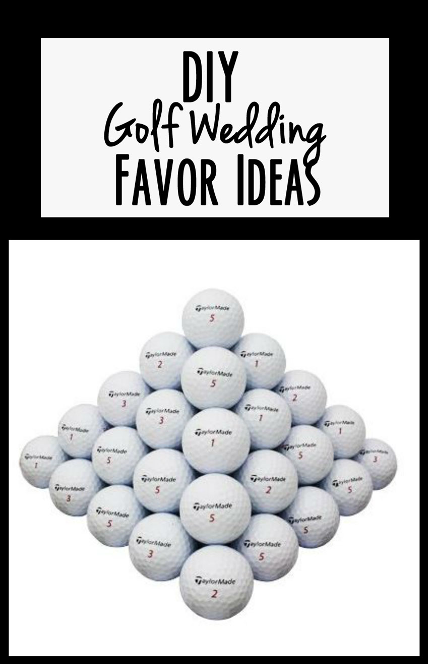 DIY Golf Wedding Favors