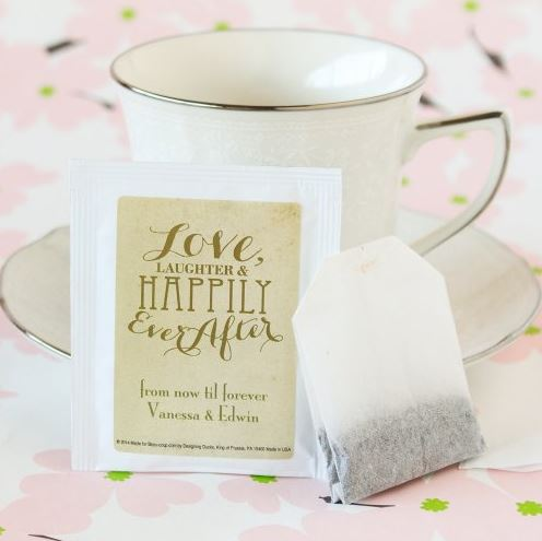 Personalized Wedding Tea Bag Favor