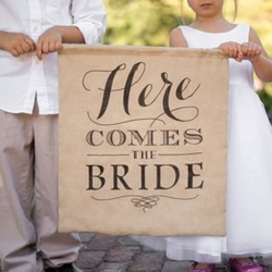 Rustic Here ComesThe Bride Sign