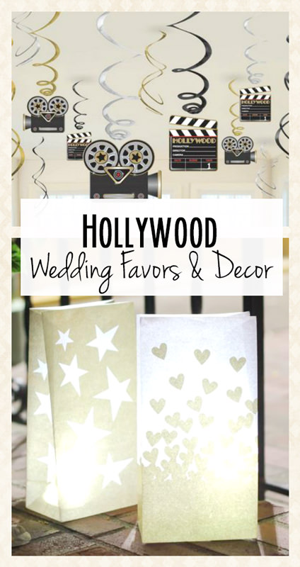 Hollywood Wedding Theme Favors and Decorations