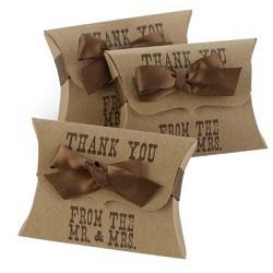 Western Pillow Favor Boxes