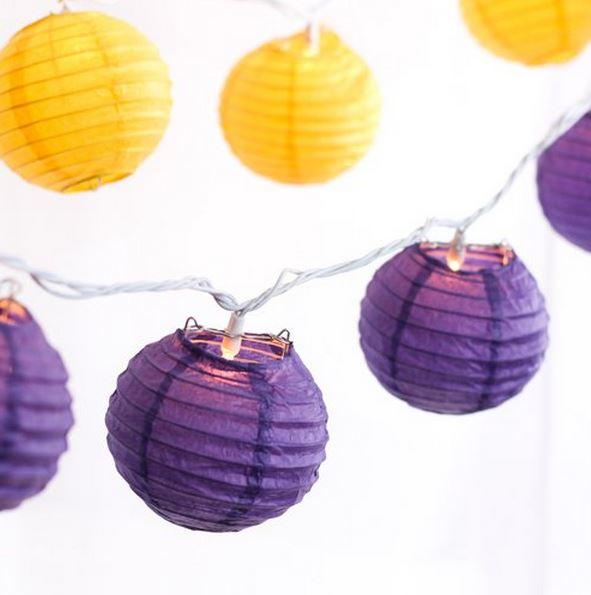 Mini Round Lantern String Lights