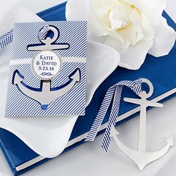 Nautical Theme Brushed Metal Bookmark
