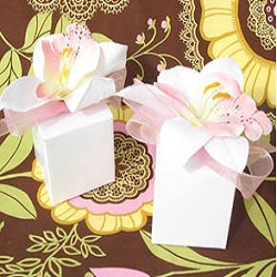 Tropical Orchid Favor Boxes