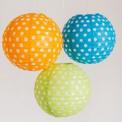 Polka Dot Paper Lanterns