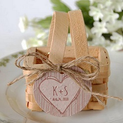 Personalized Rustic Tree Plantable Favor Tag