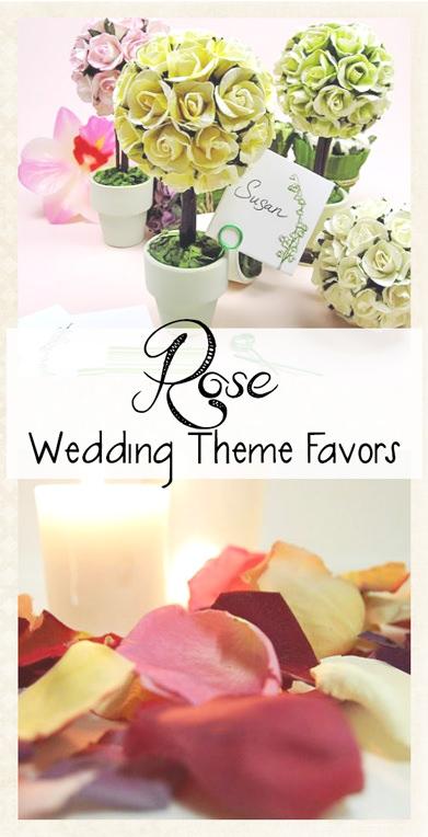 Roses Wedding Theme Favors