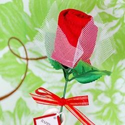 Rose Towel Favor