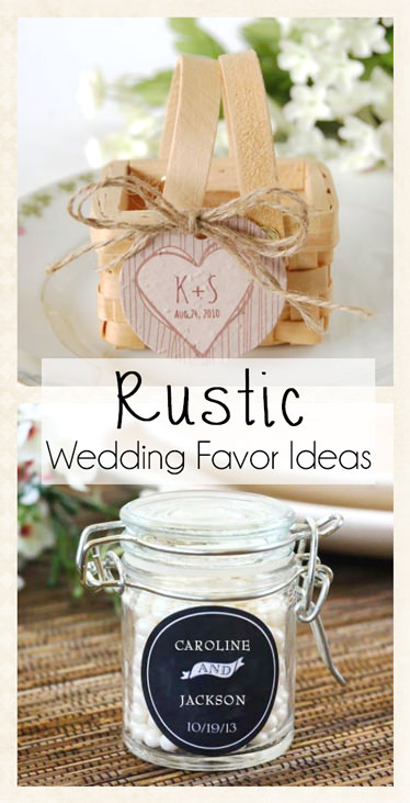 Rustic Wedding Theme Favors