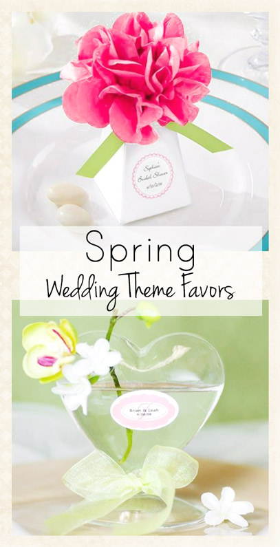 Spring Wedding Theme Favors