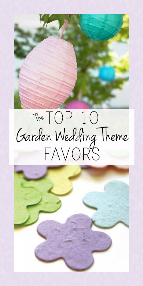 Garden Wedding Theme Favors