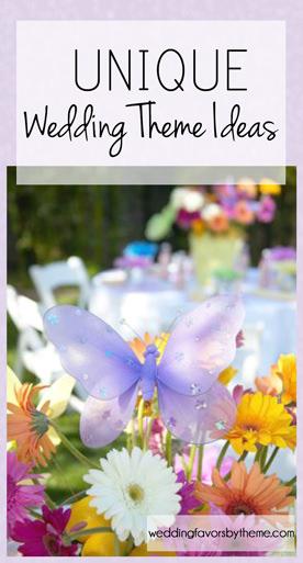 Unique Theme Wedding Ideas and Favors