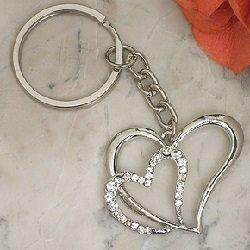 Double Heart Keychain