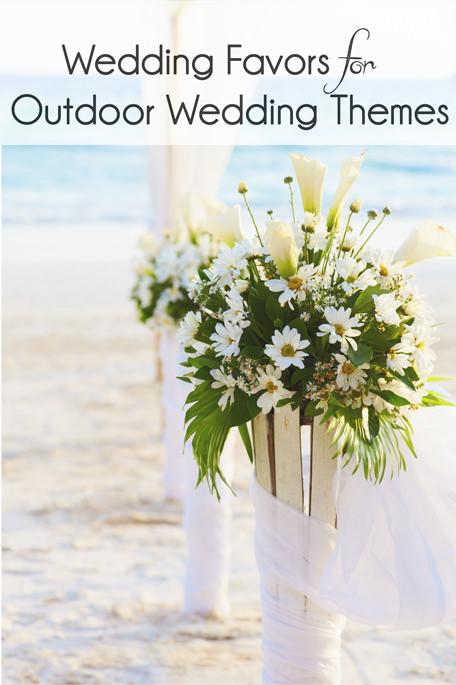 Outdoor Wedding Favor Ideas